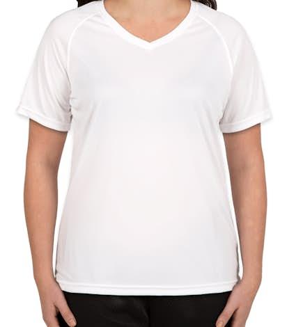 Augusta Ladies Attain Raglan Performance Shirt - White