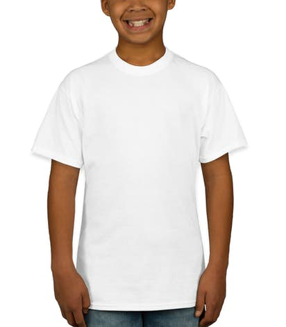 Hanes Youth 50/50 T-shirt - White
