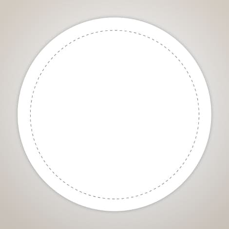 Full Color 2 in. Circle Roll Labels (500 per roll) - White