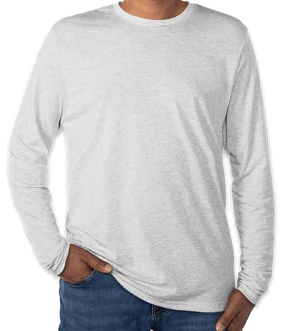 Next Level Tri-Blend Long Sleeve T-shirt - Heather White