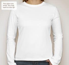 Bella Juniors Long Sleeve Jersey T-shirt - Color: White