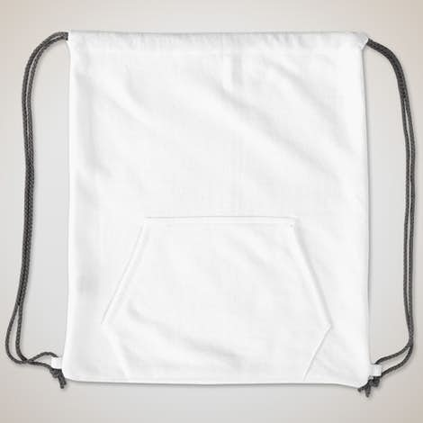 Port & Company Sweatshirt Drawstring Bag - White