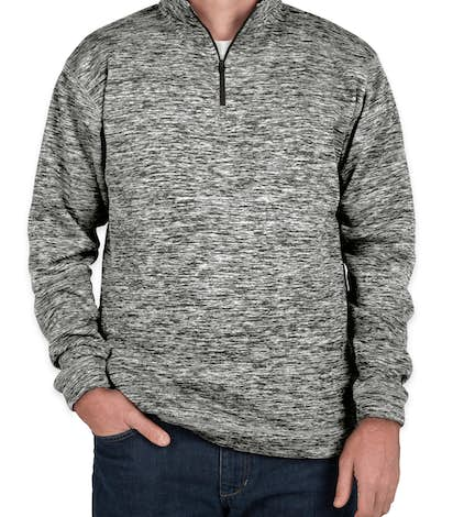 J. America Cosmic Quarter Zip Performance Pullover - Charcoal Fleck