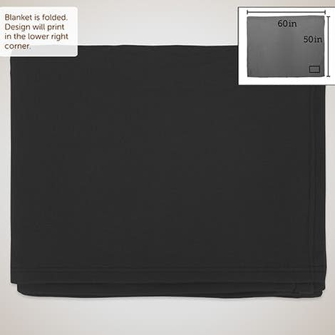 Fleece Throw Blanket - Black