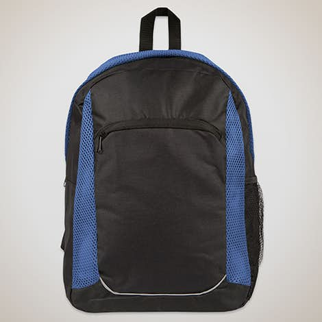 Mesh Stripe Backpack - Black / Reflex Blue