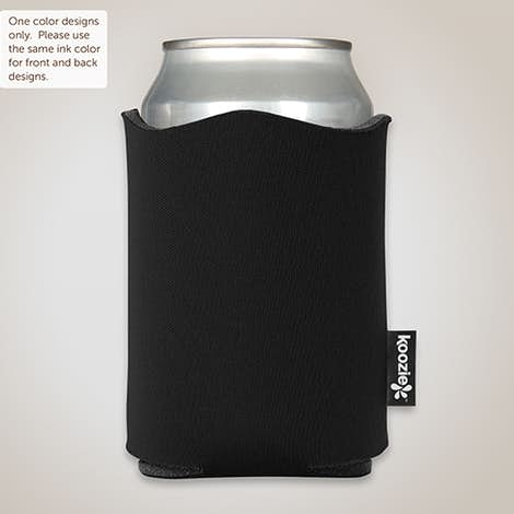 Fancy Edge Foldable Can KOOZIE ® - Black