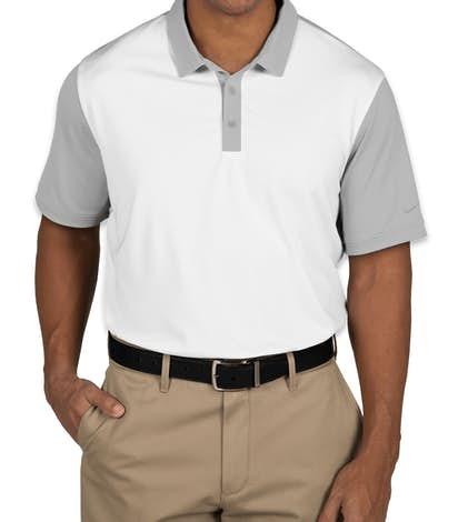 Nike Golf Dri-FIT Colorblock Icon Performance Polo - White / Wolf Grey