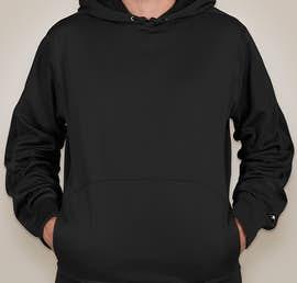 Champion Colorblock Performance Pullover Hoodie - Color: Black / Black