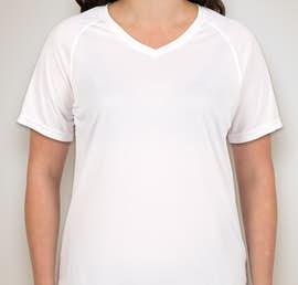 Augusta Ladies Attain Raglan Performance Shirt - Color: White