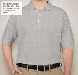 Devon & Jones Pima Pique Polo - Color: Grey Heather
