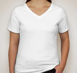 Canada - Bella Ladies V-Neck T-shirt - Color: White