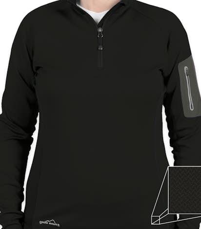 Eddie Bauer Ladies Half Zip Performance Pullover - Black