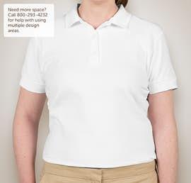 Canada - Gildan Ladies Double Pique Polo - Color: White