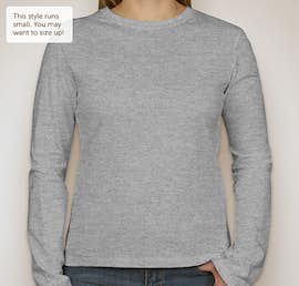 Bella Juniors Long Sleeve Jersey T-shirt - Color: Athletic Heather