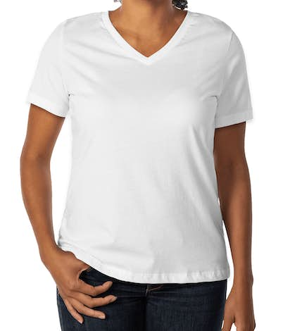 Bella Ladies V-Neck T-shirt - White