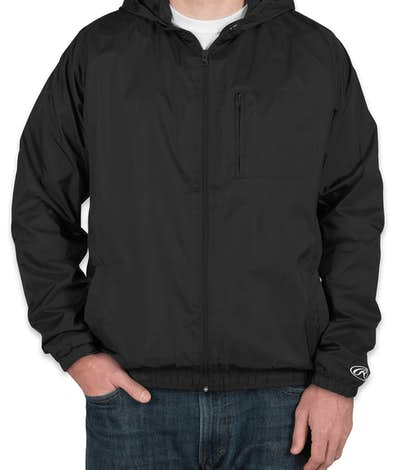 Rawlings Lined Full Zip Hooded Jacket - Black