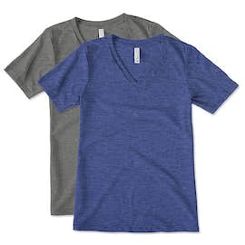 Bella Ladies Tri-Blend V-Neck T-shirt