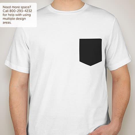 Custom Canvas Jersey Contrast Pocket T-shirt - Design Short Sleeve ...