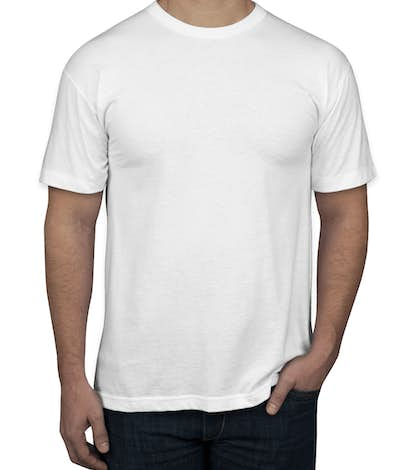 American Apparel USA-Made 50/50 T-shirt - White