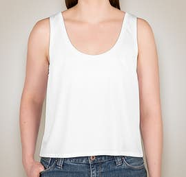 Bella + Canvas Ladies Flowy Crop Tank - Color: White