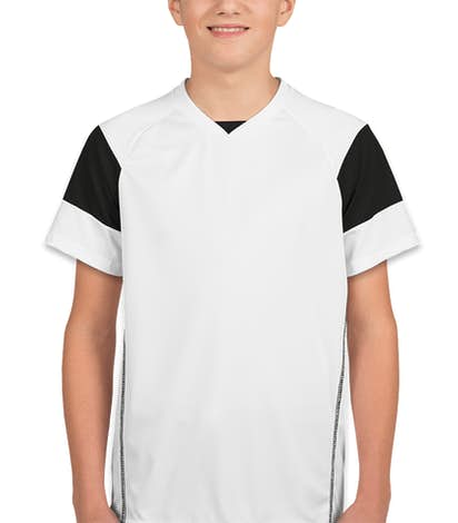 High Five Youth Mundo Performance Soccer Jersey - White / Black / White