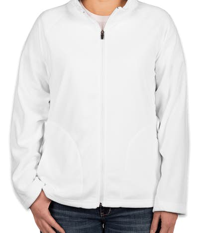 Team 365 Ladies Full Zip Microfleece Jacket - White