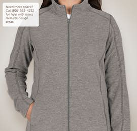 Port Authority Ladies Heather Microfleece Full Zip Jacket - Color: Pearl Grey Heather