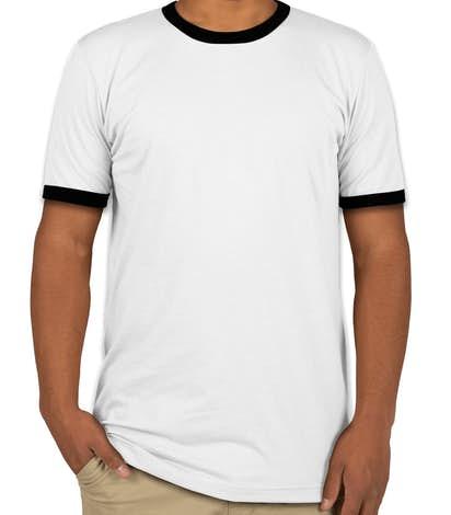 Canvas Ringer T-shirt - White / Black