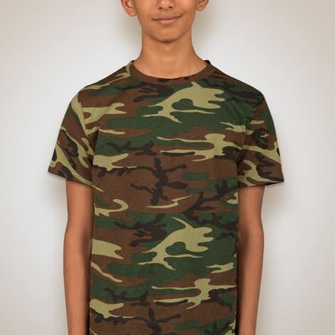 Code 5 Youth Camo T Shirt Design Custom Kids Camouflage