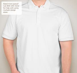 Port Authority Silk Touch Performance Polo - Screen Printed - Color: White