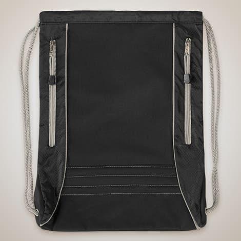 Challenger Sport Drawstring Bag - Black / Grey