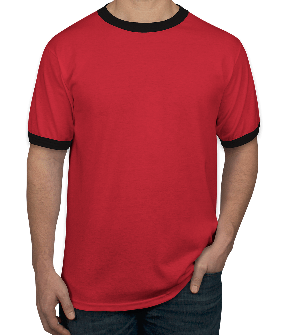 Design Custom Printed Augusta Ringer T-Shirts Online at CustomInk