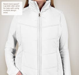 Port Authority Ladies Puffy Vest - Color: White / Dark Slate