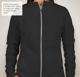 Port Authority Ladies Full Zip Microfleece Jacket - Color: Black