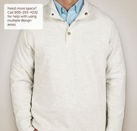 Charles River Snap Button Pullover With Pockets - Color: Ivory Heather