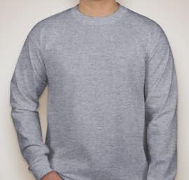 Bayside 100% Cotton USA Long Sleeve T-shirt - Color: Dark Ash