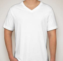 Canvas Jersey V-Neck T-shirt - Color: White