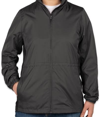 Port Authority Ladies Core Colorblock Full Zip Jacket - Battleship Grey / Black