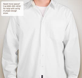 Port Authority Long Sleeve Easy Care Shirt - Color: White / Light Stone