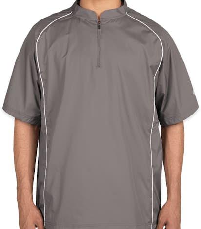 Rawlings Quarter Zip Baseball Short Sleeve Pullover - Steel
