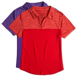 Augusta Ladies Tonal Heather Performance Polo