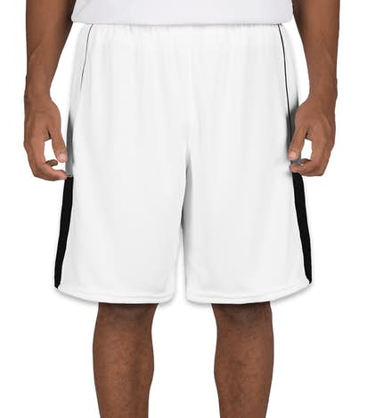Teamwork Surge Lacrosse Short - White / Black