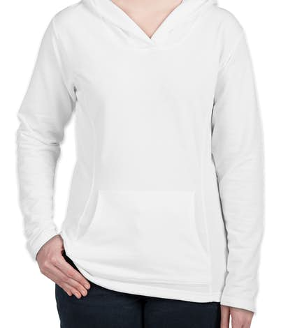 Anvil Ladies French Terry Pullover Hoodie - White