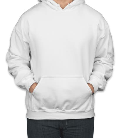 Gildan Midweight 50/50 Pullover Hoodie - White