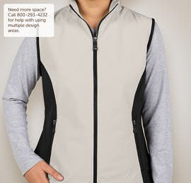 North End Ladies Soft Shell Vest - Color: Natural Stone