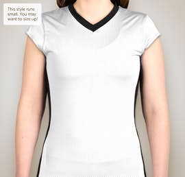 Augusta Juniors Colorblock Mesh Volleyball Shirt - Color: White / Black / White
