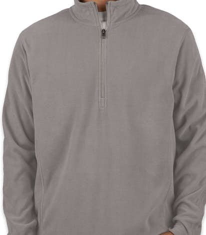Port Authority Quarter Zip Microfleece Pullover - Pearl Grey