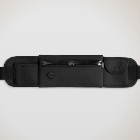 Neoprene Running Belt Fanny Pack - Black