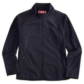 Team 365 Ladies Hybrid Microfleece Full Zip Jacket