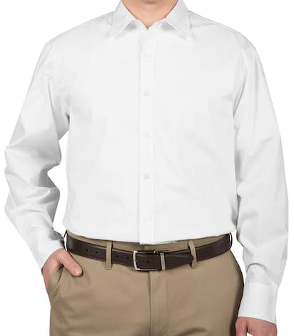 Port Authority Stretch Poplin Dress Shirt - White